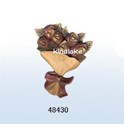 画像1: バラのブーケ ピン付
