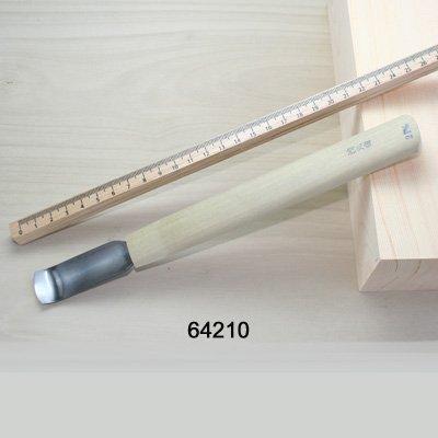 画像2: 彫刻刀安来鋼 面打ち裏彫 浅丸曲型21mm