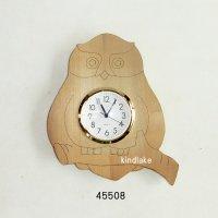 フクロウの時計 朴材