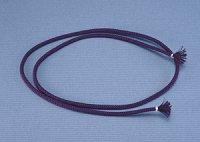 面紐 江戸打 古代紫(正絹) 60cm