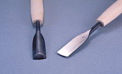 画像1: つきのみ小道具朴柄 極浅丸型9mm