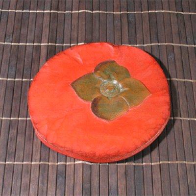画像1: 銘々皿 柿  朴材