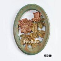 バラのレリーフ小判型 シナ材