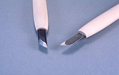 画像1: 彫刻刀ハイス鋼HSS ナギナタ型右3mm