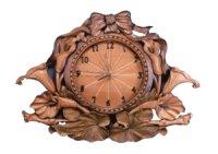 針時計 カラーとリボン 朴材