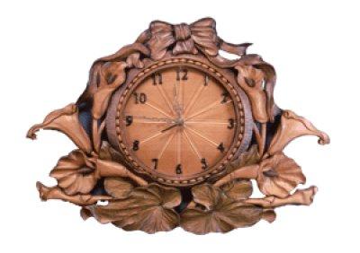 画像1: 針時計 カラーとリボン