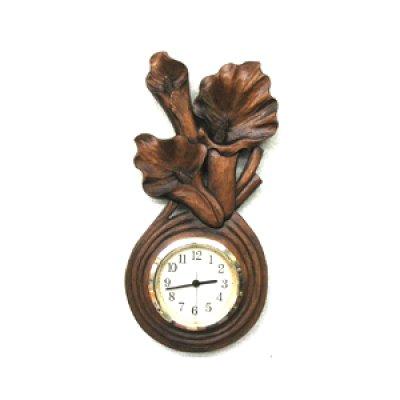 画像1: おしゃれ時計 カラー 朴材