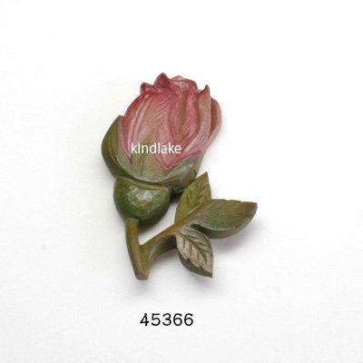 画像1: ブローチ バラのつぼみ ピン付