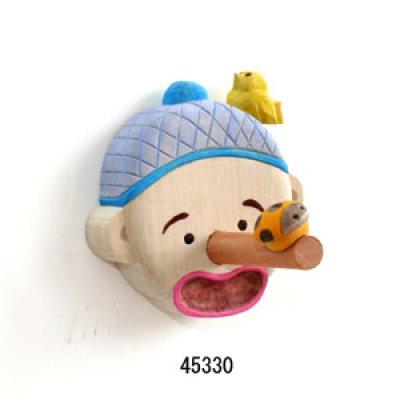 画像1: 輪ゴム掛け ピノキオ マグネット付 朴材