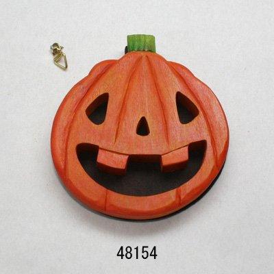 画像1: ハロウィン カボチャ 朴材