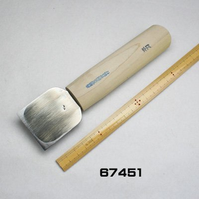 画像1: 彫刻刀安来鋼super 平型45mm 短柄