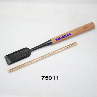 画像2: 木彫つきのみ平型長柄 42mm