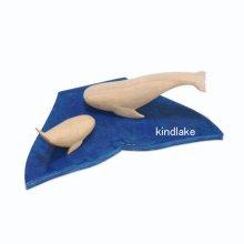 他の写真1: クジラの親子 (台付)