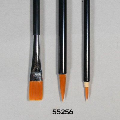 画像1: ナイロン筆 3本組黒軸