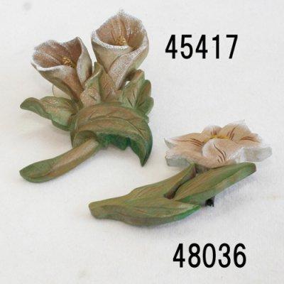 画像4: ブローチ 桔梗 ピン付