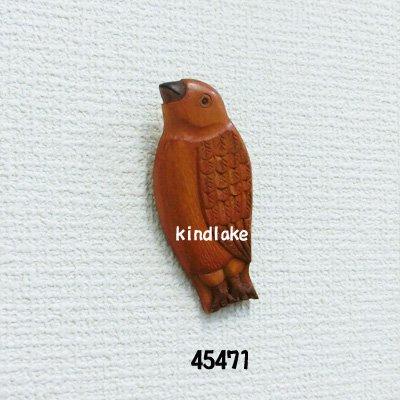 画像1: ブローチ 小鳥 ブローチピン付
