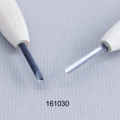 画像1: 彫刻刀安来鋼super 丸型3mm 別誂R