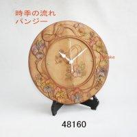 時季の流れ パンジー 時計付