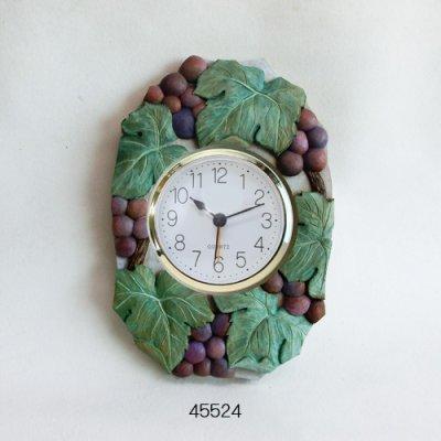 画像1: ぶどうの時計 朴材