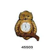 温湿度計 フクロウ