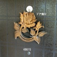 ドア飾り バラ ミニ 朴材