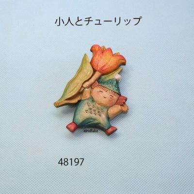 画像5: 小人とチューリップ ピン付
