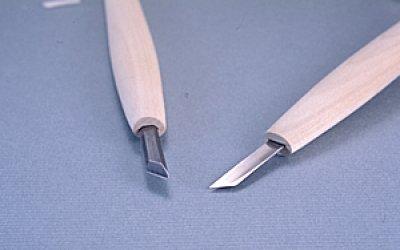 画像1: 彫刻刀ハイス鋼HSS 印刀型右3mm