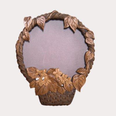 画像2: 花篭 (掛け鏡) 朴材