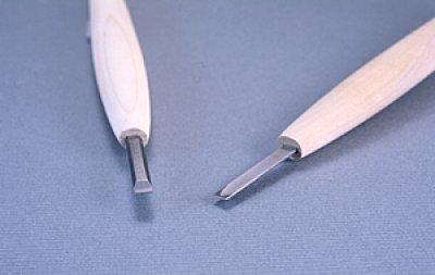 画像1: 彫刻刀ハイス鋼HSS 平型3mm