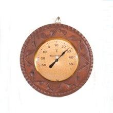 他の写真1: 丸枠の温度計  朴材