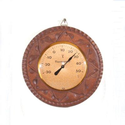 画像4: 丸枠の温度計  朴材