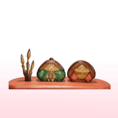 画像1: おむすび型 土筆付き シナ材