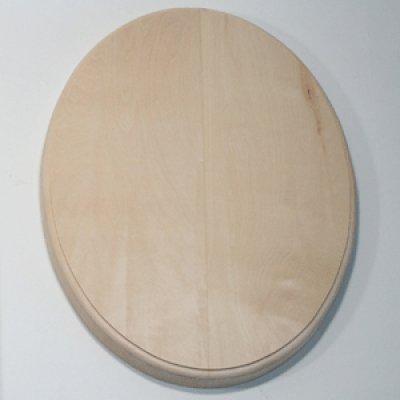 画像1: レリーフ板(面取り) 楕円形 シナ材 320×230×20mm