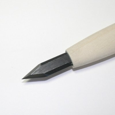 画像1: 彫刻刀安来鋼super 剣型クリ刀7.5mm