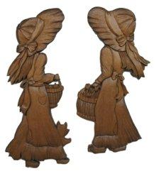 他の写真1: 少女と犬のレリーフ りんご