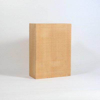 画像1: 能面材3号 24×16.5×7.5cm 木曾桧材柾目材