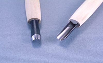 画像1: 彫刻刀安来鋼super 深丸型9mm