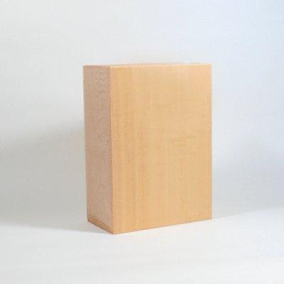 画像1: 能面材4号 24×17×9cm 木曾桧材柾目材