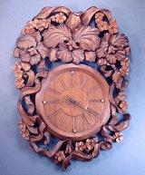 針時計 カトレアと小花