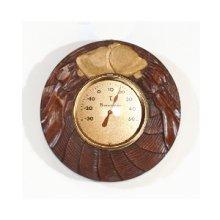 他の写真2: 丸枠の温度計  朴材
