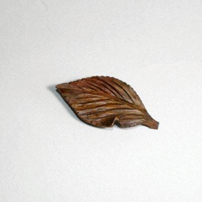 画像1: 木の葉虫食い ピン付