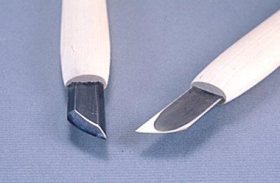 画像1: 彫刻刀ハイス鋼HSS ナギナタ型右15mm