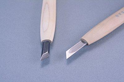 画像1: 彫刻刀安来鋼super 印刀左型3mm