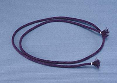 画像1: 面紐 江戸打 古代紫(正絹) 60cm