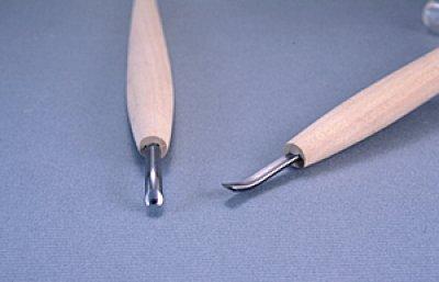 画像1: 彫刻刀ハイス鋼HSS 浅丸曲型6mm