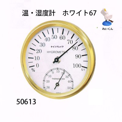 画像1: 温・湿度計 ホワイト67