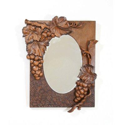 画像1: ぶどう楕円鏡キット式 朴材