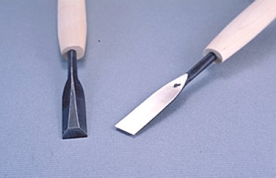 画像1: つきのみ小道具朴柄 平型12mm