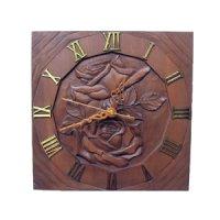 針時計 バラ 朴材