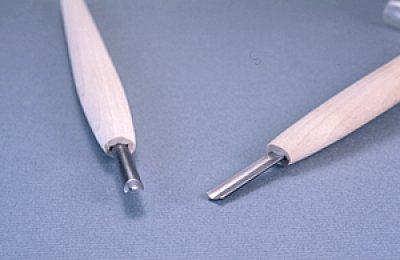 画像1: 彫刻刀ハイス鋼HSS 浅丸型3mm